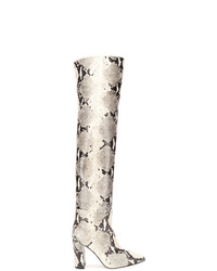 Paris Texas Embossed Thigh High Boots