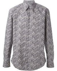 Grey Print Long Sleeve Shirt