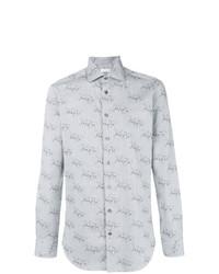 Horse race print shirt medium 8761325
