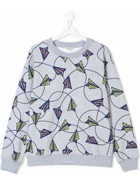 Kenzo Kids Teen Paper Planes Print Sweatshirt