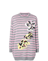 Ermanno Scervino Striped Floral Jumper