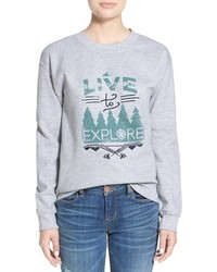Ten sixty sherman live to explore graphic sweatshirt medium 355456