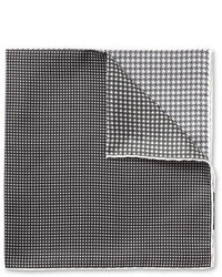 Lanvin Houndstooth Print Silk Pocket Square