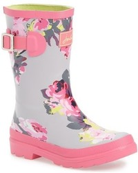 Joules Toddler Girls Welly Print Waterproof Rain Boot