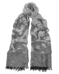 MCQ Alexander Ueen Printed Cotton And Modal Blend Scarf