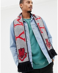 Tommy Jeans Football Scarf In Grey