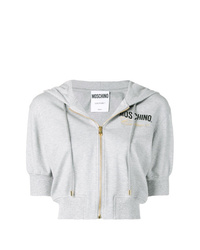 Moschino Couture Embroidery Cropped Hoodie