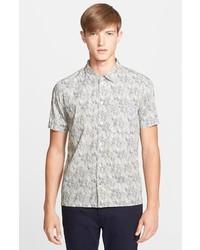 Grey Print Short Sleeve Shirt