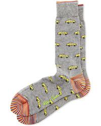 Grey Print Socks