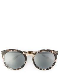 Dolce & Gabbana Printed Oval Frame Sunglasses