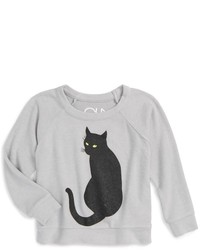 Chaser Girls Spooky Cat Graphic Sweatshirt