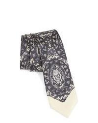 Grey Print Tie
