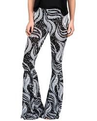 Cold love print bell bottom pants medium 517367