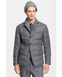 Grey Quilted Blazer