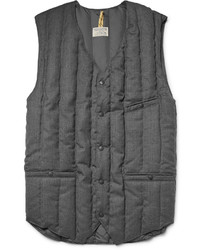 Six month quilted wool twill down gilet medium 896784