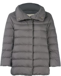 Grey Quilted Puffer Jacket
