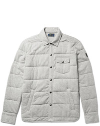 Grey Quilted Shirt Jacket