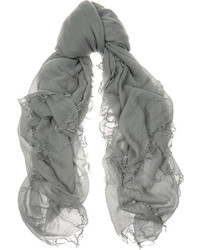 Chan Luu Cashmere And Silk Blend Scarf Gray