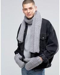 adidas Originals Scarf And Glove Set In Gray Ay9042