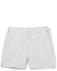 Orlebar Brown Cavrin Slim Fit Seersucker Cotton Shorts