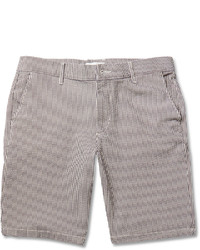 Nn07 Seersucker Cotton Blend Shorts