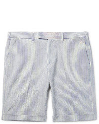 Gant Rugger Slim Fit Striped Cotton Seersucker Shorts