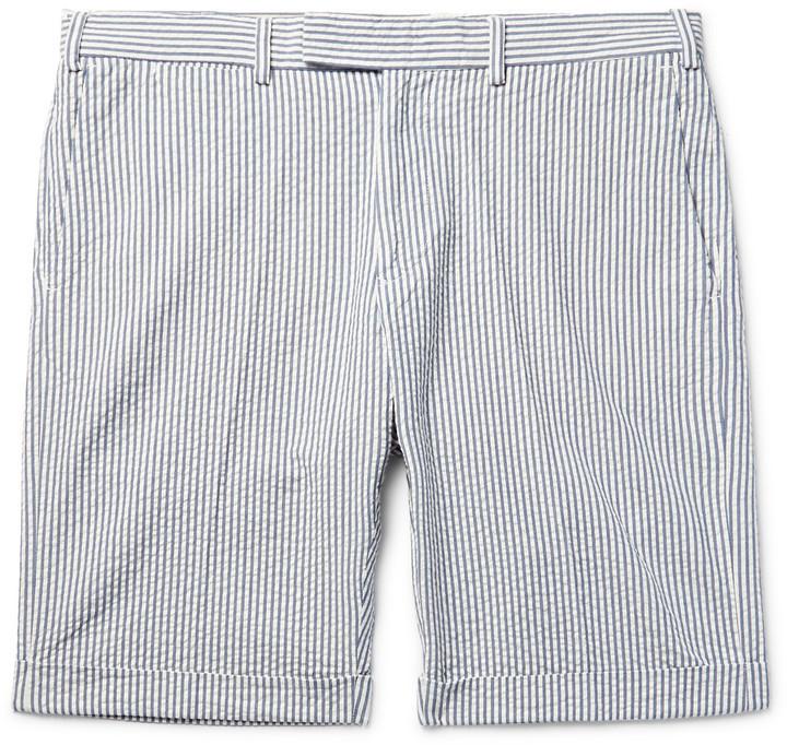 suitable for men/women exquisite style huge range of £158, Gant Rugger Slim Fit Striped Cotton Seersucker Shorts