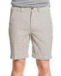 Vintage 1946 Stripe Seersucker Cotton Shorts