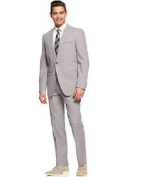 Grey Seersucker Suit