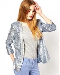 Grey Sequin Blazer