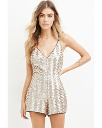 Grey Sequin Playsuit