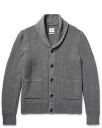 Avery shawl collar textured knit cotton cardigan medium 1149088