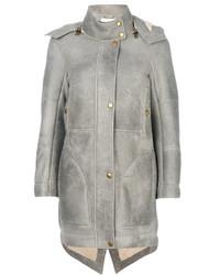 Grey Shearling Coat | Women's Fashion