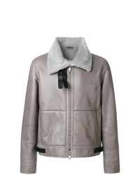 Grey Shearling Jacket