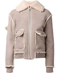 Brock collection shearling collar jacket medium 121433