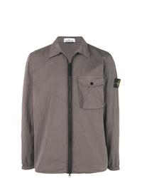 Stone Island Zip Up Shirt Jacket