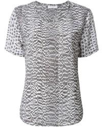 Grey Short Sleeve Blouse