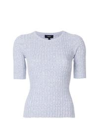 Theory Ribbed Shortsleeved Sweater