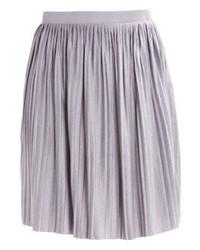 Nice pleated skirt light grey melange medium 3934016