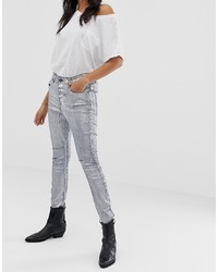 One Teaspoon Kidds Metallic Skinny Jeans