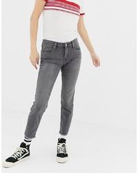 Lee Jeans Lee Scarlett Mid Rise Raw Hem Skinny Jeans