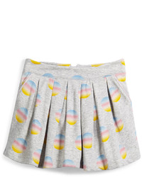 Little Marc Jacobs Pleated Fleece Polka Dot Skirt Gray Size 4 5