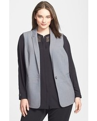Grey Sleeveless Blazer