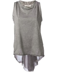 Grey Sleeveless Top