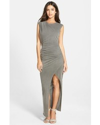 Grey Slit Maxi Dress
