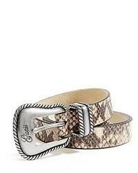 Grey Snake Leather Belt