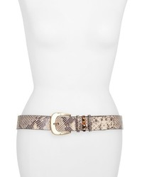 Michl michl kors glazed python embossed belt medium 156889