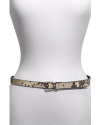 MICHAEL Michael Kors Michl Michl Kors Reversible Belt Black Python Large