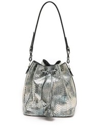 Snake embossed drawstring bag medium 83817