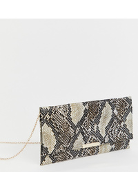 Accessorize Kelly Snake Print Clutch Bag
